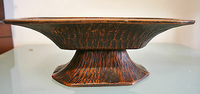 """Vintage French Wooden Handcrafted Dish/Bowl 4 1/4"""" (11cm) Tall"""