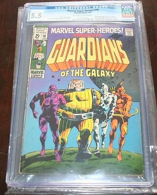 Marvel Super Heroes 18 CGC 5.5 1st app Guardians of the Galaxy KEY ISSUE
