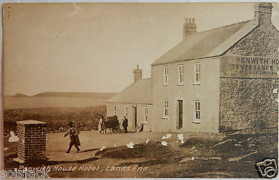 ANTIQUE POSTCARD - PENWITH HOUSE HOTEL LANDS END - CORNWALL By R Williams
