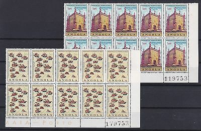 Portugal - Angola Nice Complete Set in Blocks of 10 MNH
