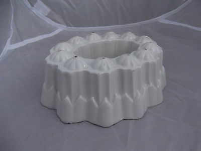 (888) Art Deco Shelley White China Ring Mould # Jelly Aspic Blancmange Exc Cond