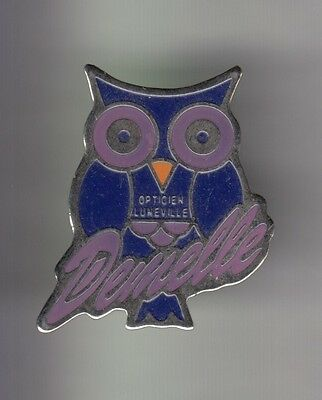 Rare Pins Pin's .. Animal Oiseau Hibou Chouette Owl Optique Luneville 54 ~Cy