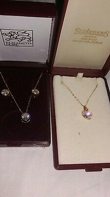 2 x 9ct gold necklace and earrings