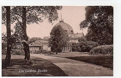 Old Postcard The Gardens, Buxton