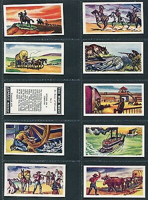 """Express Weekly 1958 Set Of 25 """"the Wild West"""" Trade Cards"""