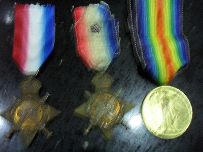 Family Medal Group 14 Mons Pair Leicester Regt & Casualty Star Royal Warwick R