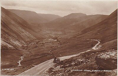 Bwlch-Y-Groes With Motorcycle Sidecar - Real Photo By Valentines