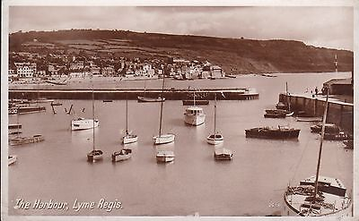 Dorset - Lyme Regis, Boats In Harbour - Real Photo By Photo Precision