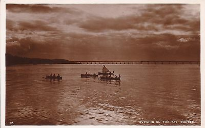 Dundee - Evening On Th Tay - Real Photo By White