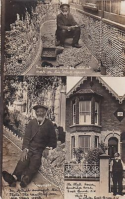 I.o.w. East Cowes, Shell House & Mr Atrill - Real Photo By White