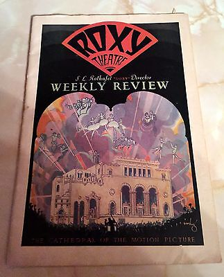 June 11, 1927 Roxy Theatre Weekly Review The Cathedral Of The Motion Picture