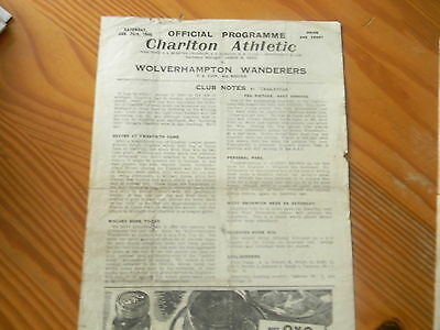 CHARLTON ATHLETIC v WOLVES 1945/6 F.A.CUP 4th Round