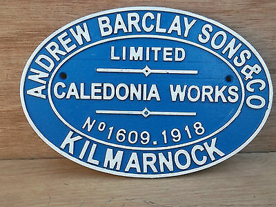 ANDREW BARCLAY & SONS Ltd.,  Caledonian Works, Kilmarnock. Railway Sign