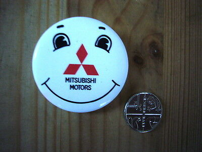 Mitsubishi Motors metal tin pin advertising badge, 1990s, excellent condition