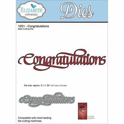 "Elizabeth Craft Designs Congratulations Metal Die Cut Approximately 5""x1.24"""