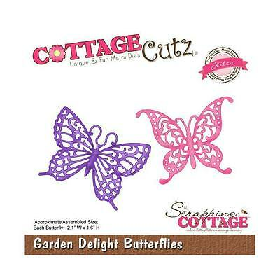 "Cottage Cutz Metal Die Cut Garden Delight Butterflies Approximately 2.1""x1.6"""
