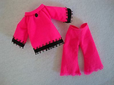 HOT PINK a Handmade Top & Pants for Tutti by Frog Fountain