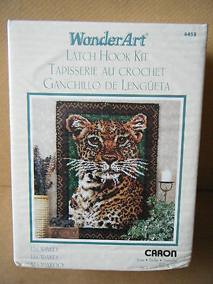 "Caron/WonderArt Latch Hook kit ""LEOPARD"" 4458. Produced in 2012. New and Sealed."
