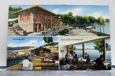 Kentucky KY Albany Grider Hill Dock Indian Creek Lodge Postcard Old Vintage Card