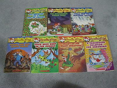 7 GERONIMO STILTON CHAPTER BOOKS LOT #'s 5,9,10,24,29,31,32 LIGHTLY USED SEE PIC