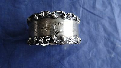 """Antique Victorian Sterling Silver Repousse #625 Napkin Ring """" DF"""""""