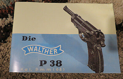 Walther P-38 Pre War Instruction Booklet for a Mod P-38