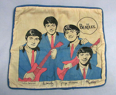 Rare Vintage 1060s Beatles Nordic House Throw Pillow Case Fab Four