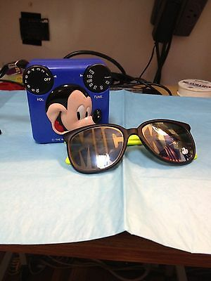 MICKEY MOUSE A.M. RADIO (works) AND MICKEY SUNGLASSES--------------------jf