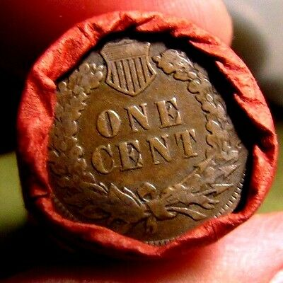 *OLD SAFE FIND* Unsearched Wheat/Indian Roll (2) Good Looking Indian Head Ends