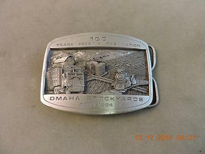 Vintage 1984 100th Anv South Omaha Stockyards Limited Edition Belt Buckle