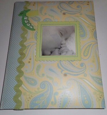CR Gibson Anna Griffin Green Blue Jack Baby Memory Keepsake Book 1st 5yrs New