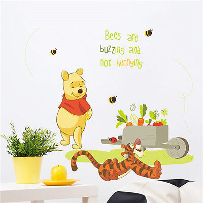 Winnie the pooh friends wall sticker removable vinyl decal for Baby pooh and friends wall mural