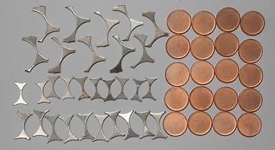 Massive (50) Coin Lot of US Mint Errors ....   Coin Webbing and Blank Planchets