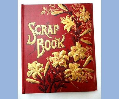 1880 antique victorian DIE CUT SCRAPBOOK COVER~CLEAN,VIBRANT~RLENE MAY THOMAS