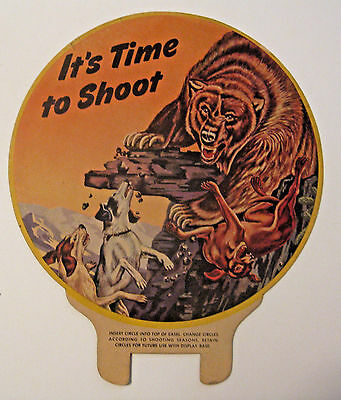 Scarce Vintage Winchester Hunting Shooting Store Display Advertising Sign ~ Nice