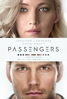 PASSENGERS great original 27x40 movie poster with JENNIFER LAWRENCE