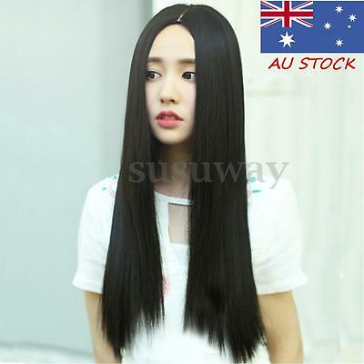 70CM Long Natural Straight Heat Resistant Cosplay Custome Hair Full Wig Straight