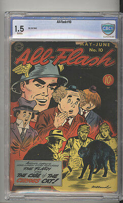 All-Flash # 10  The Case of the Curious Cat !  CBCS 1.5 scarce book !