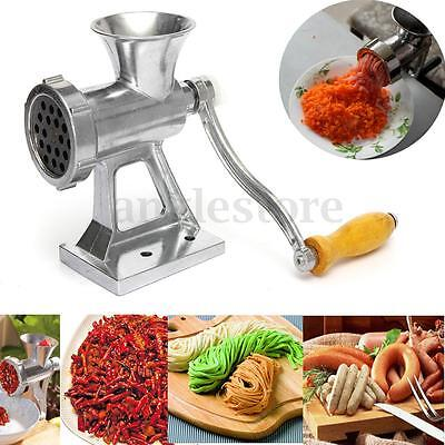 Table Manual Meat Grinder Mincer Cast Iron Hand Operated Crank Pasta Maker Home