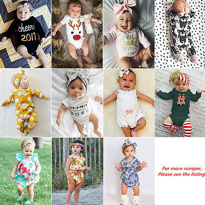 Toddler Infant Newborn Baby Boy Girl Romper Bodysuit Jumpsuit Outfit Clothes lot