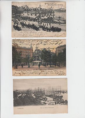 Allemagne Lot 3 Cpa Hambourg Hamburg Postcard Postkarten Animees