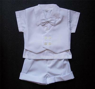 Formal BABY BOY OUTFIT White Special Occasion Suit Wedding Christening Wear