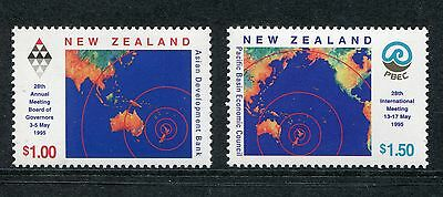 1995 New Zealand Mnh Sg 1881-1882 Meetings Commemorative Stamp Set