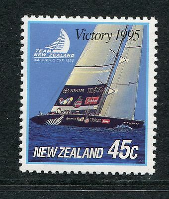 1995 New Zealand Mnh Sg 1883 America`s Cup Victory Commemorative Stamp