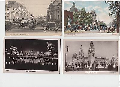 Angleterre Lot 4 Cpa London Londres Court Honour By Night Regent Street Animee