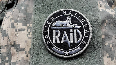 RAID POLICE NATIONALE FRANCE embroidered grey ACU Tactical Patch
