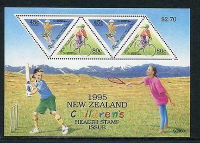 1995 New Zealand Mnh Sg Ms1886 Health Stamps Miniature Sheet