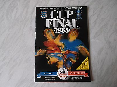Everton Vs. Manchester United. F.a. Cup Final 1985. [Vgc]. Football Programme.