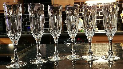 Vintage Cristal D'arques X 4 Crystal Champagne  Glasses - 480