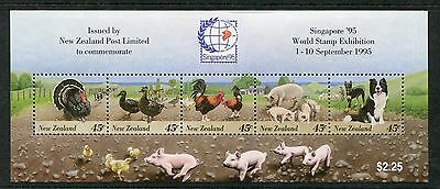 "1995 New Zealand Mnh Sg Ms1914 ""singapore `95"" Stamp Exhibition Miniature Sheet"